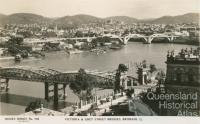 Victoria and Grey Street Bridges, Brisbane, c1934