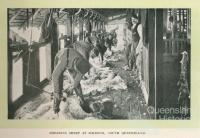 Shearing sheep at Jimbour Homestead, 1912