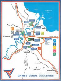 Commonwealth Games, venue locations, 1982