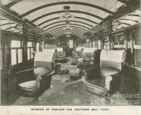Parlour car, Southern Mail train, 1912