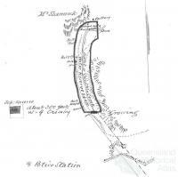 Sketch outlining proposed position of School Reserve, Mount Shamrock