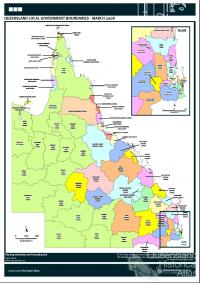Queensland local government boundaries, 2008