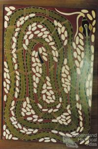 Carpet snake painting