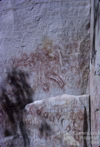 Aboriginal paintings, Carnarvon National Park, 1965