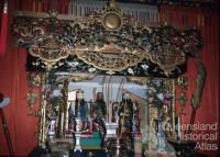 Chinese Joss House interior, Cooktown, 1972