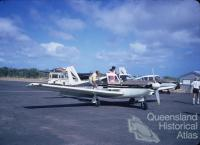 Comanche aircraft at Horn Island Airport, 1972