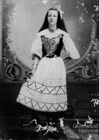 Anna Christina Kruse in Danish national costume