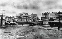 Byrnes statue at Petrie Bight, junction of Wickham and Boundary Streets, c1911