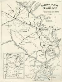 Darling Downs and Granite Belt (tourist map), c1935