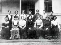 Group of women telephonists, Brisbane, 1899