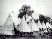 Shearer's strike camp at Barcaldine, 1891