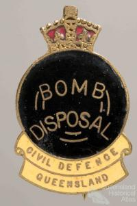 Civil Defence badge, Bomb Disposal