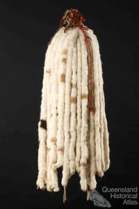 Ceremonial rabbit tail headdress, c1940