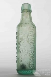Owen Gardner, Lamonts, glass bottle