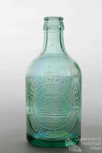 Glass bottle, Helidon Spa
