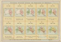 Historical diagrams showing the subdivision of Australia, 1904