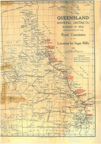 Proposed Queensland sugar mill locations, 1923