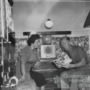 Reading a magazine, 1950