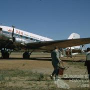 Last Trans-Australian Airways DC3 flight in Australia, Miles, 1968