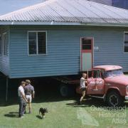 Moving the laboratory at the Pioneer Mill, Brandon, 1965