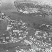 The Brisbane River and Breakfast Creek, 1974