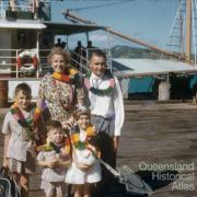 Hyndman family arriving on Thursday Island, 1958