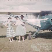 Passengers, Toowoomba airport, 1959