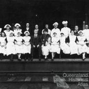 Refreshment room staff at Toowoomba