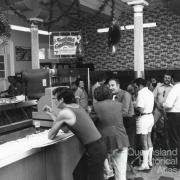 Refreshment Room bar at Brisbane Central Station, c1970