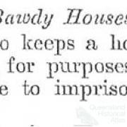 Bawdy houses, 1896-99