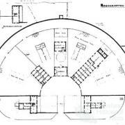 Radial prison design, 1880s