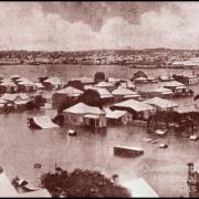Flood panorama, Rockhampton, 1918