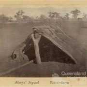 Blacks' dug-out, Tinnenburra, c1910