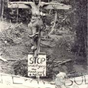 Stop crucifying the rainforest now, 1984