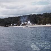 Tangalooma Whaling Station viewed from the water, 1960