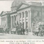 Horse-drawn Red Cross consignment, 1916