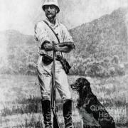Norwegian naturalist and explorer Carl Lumholtz and his dog, c1882