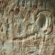 Aboriginal rock art, Carnarvon Gorge, 1980