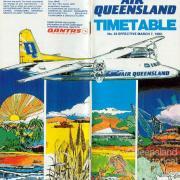 Air Queensland timetable, 1982