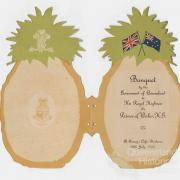 Pineapple invitation, 1920