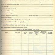 Application for relief rations, Queensland, 1931