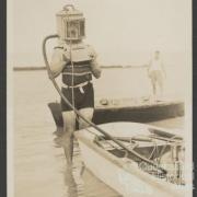 Diving helmet, Low Isles, 1928