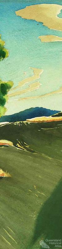 Contour ploughing c1945