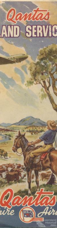 Qantas Inland Services brochure, 1945