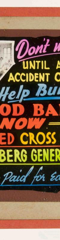 Blood Bank advertisement, Bundaberg