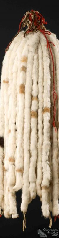 Ceremonial rabbit tail headdress, c1940
