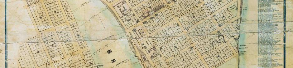Ham's Map of the City of Brisbane, 1863