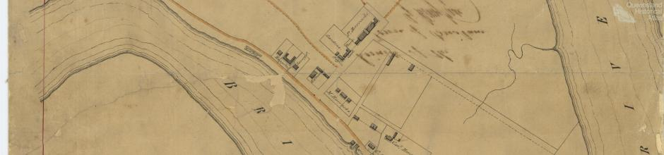 Plan of the limits of the town of Brisbane, 1843
