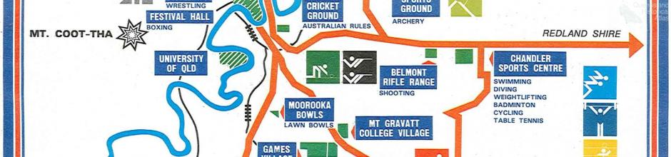 Commonwealth Games, venue locations, 1982