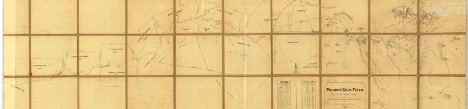 Palmer gold field, base line and primary triangles, 1885
